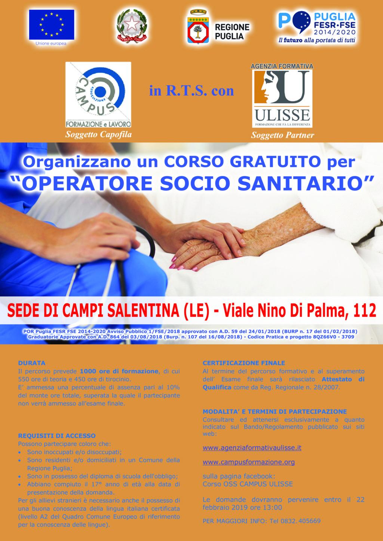 Corso Operatore Socio Sanitario – Campi Sal.