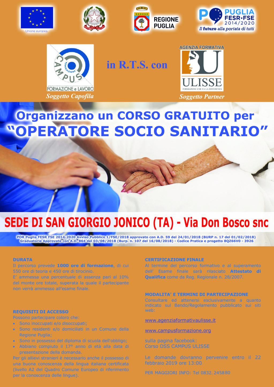 Corso Operatore Socio Sanitario – San Giorgio Jonico
