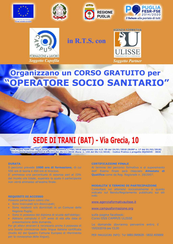 Corso Operatore Socio Sanitario – Trani