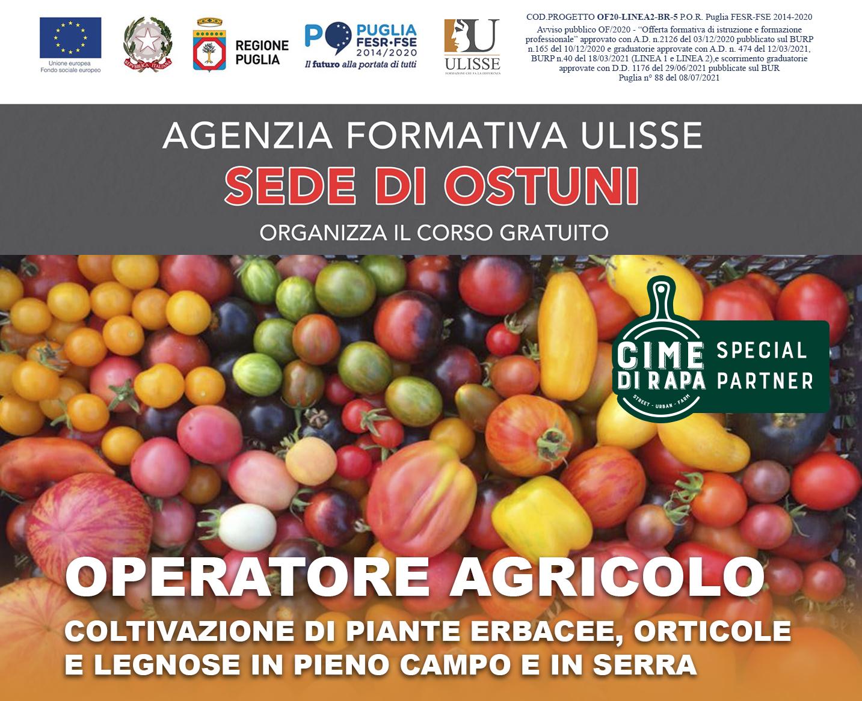 Corso Gratuito – Operatore Agricolo Ostuni